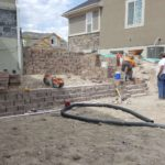 Bluffdale Utah landscape grading and retaining walls