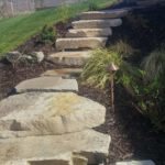 Park City Utah rock pathway and stairs landscaping