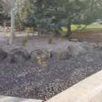 Park City Utah full xeriscape installation rocks gravel